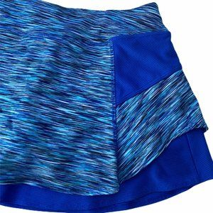 Athleta Shorts - Athleta Bustle Skort Blue Space Dye Tennis Skirt